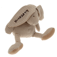 bamse-med-navn-og-foedselsdato-beige-kanin