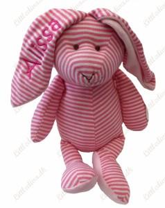 bamse-med-navn-og-foedselsdato-kanin-lyseroed