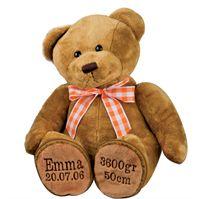 bamse-med-navn-og-foedselsdato-orange