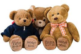 Bamse med navn og fødselsdato - bamser med navn