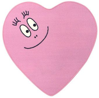 barbapapa-gulvtaeppe-hjerte