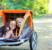 Transporter børnene nemt og sikkert med cykeltrailer