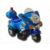 elektrisk-bil-til-boern-motorcykel-politi-blaa