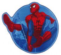 gulvtaeppe-boernevaerelset-spiderman-rund