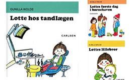Lotte bøger – og Totte bøger