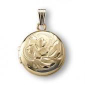 medaljon-til-halskaede-boern-guld-rund