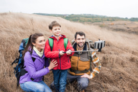 Tag den perfekte selfie sammen med dit barn