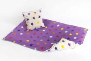 sengetoej-baby-smallstuff-stjerner-lilla