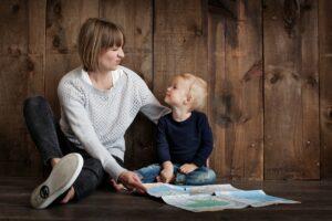 Barn og mor