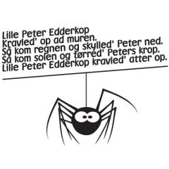 wallstickers-boernevaerelse-edderkop