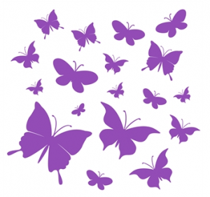 wallstickers-boernevaerelse-sommerfugle