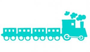 wallstickers-boernevaerelse-tog