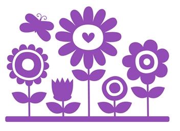 wallstickers-boernevaerelset-blomster