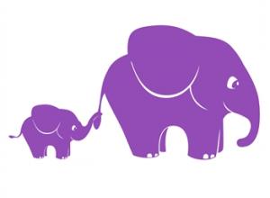 wallstickers-boernevaerelset-elefanter