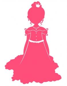 wallstickers-boernevaerelset-prinsesse