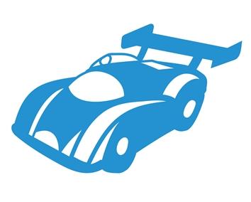 wallstickers-boernevaerelset-racerbil
