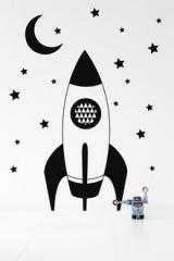 wallstickers-boernevaerelset-raket