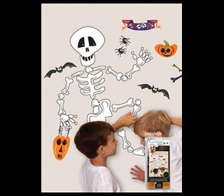 wallstickers-boernevaerelset-skelet