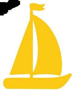 wallstickers-boernevaerelset-skib