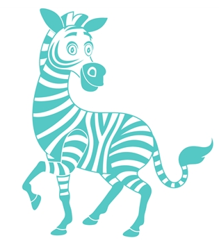 wallstickers-boernevaerelset-zebra