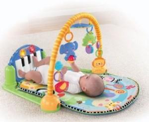 Topmoderne Legetæppe til baby - aktivitetstæppe og legegulvtæppe til baby BU-43